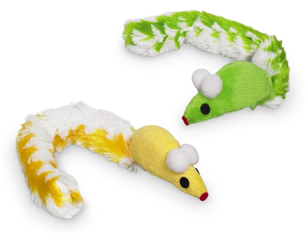 Nobby Catnip plyšové myšky s catnipem 2ks 23cm 2ks