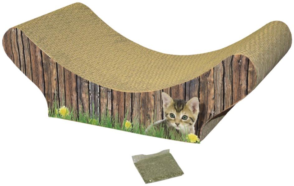 Nobby hračka pro kočky kartonové škrabadlo lenoška 47x21x17cm
