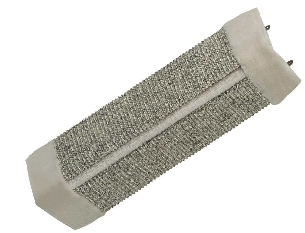 Nobby malé škrabadlo na roh stěny 49x22cm šedá