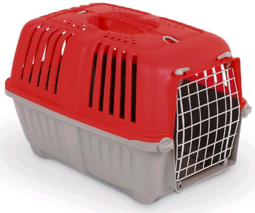 Odlehčená přepravka PRATIKO metal dvířka červená 48 x 31,5 x 33 cm