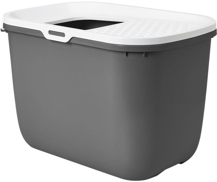 Savic Hop In toaleta pro kočky s horním vstupem antracit 59x39x38cm