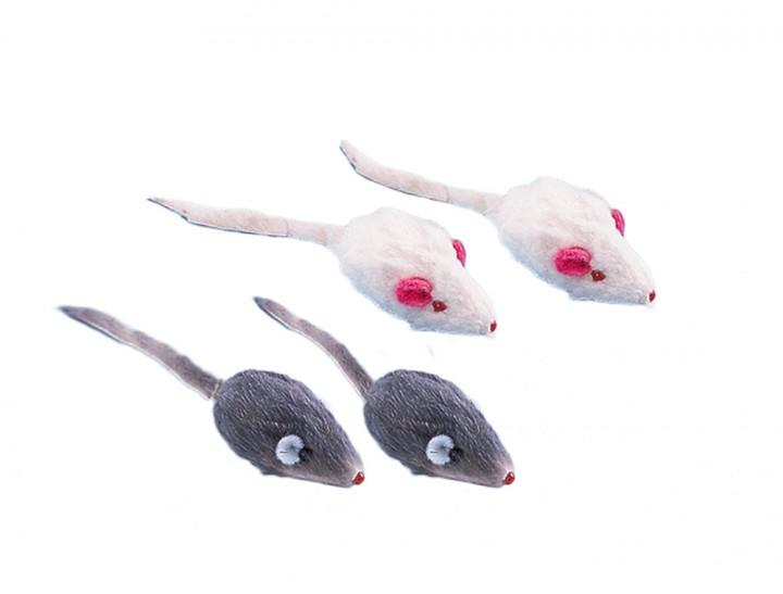 Nobby hračka plyšové myšky s chrastítkem 5cm (4ks)