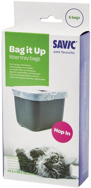 Sáčky do toalety pro kočky Savic Hop In 6 ks