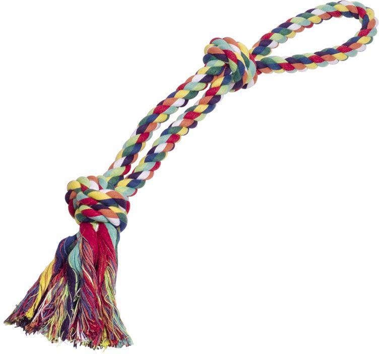 Nobby hračka pro psy lano barevné bavlna 320g 55cm