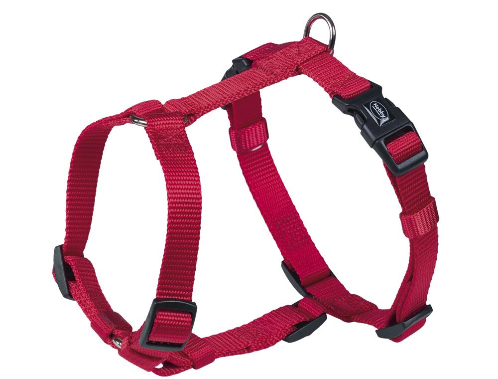 Nobby CLASSIC postroj nylon XS-S 20-35cm / 10mm červená