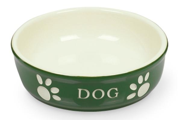 Nobby DOG miska zeleno-béžová 12,0 x 3,7 cm