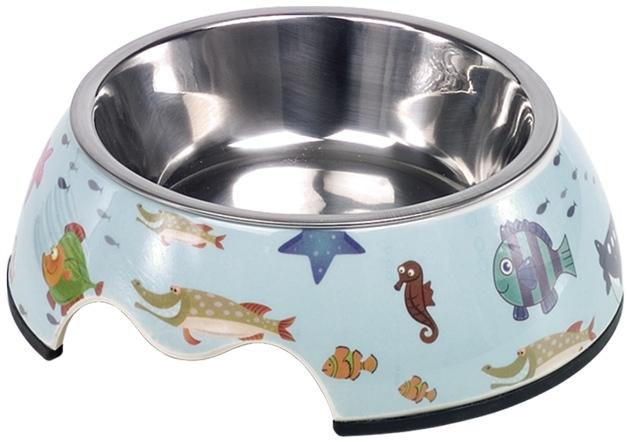Nobby Fish nerez miska v pouzdře podmořský svět 160ml