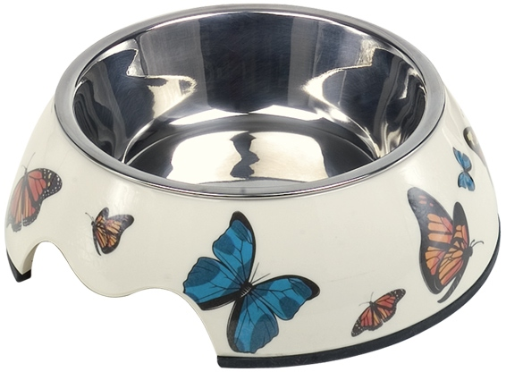 Nobby Butterfly nerez miska v pouzdře, motýli 160ml