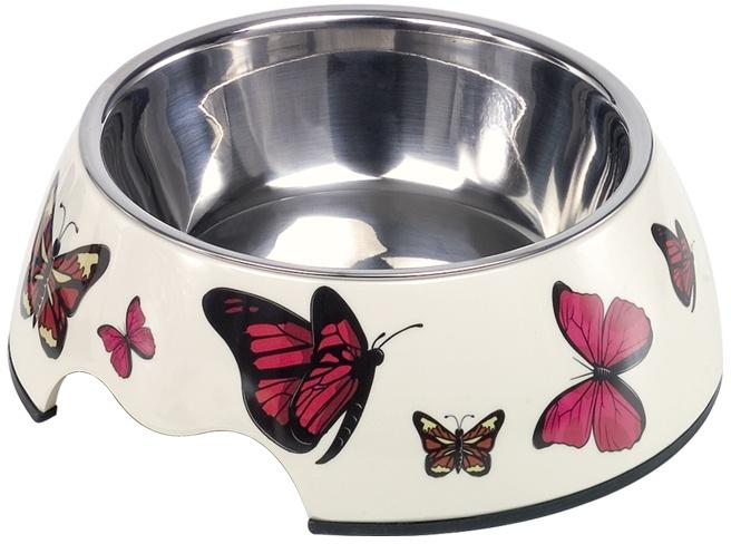 Nobby Butterfly nerez miska v pouzdře s motýli 350ml