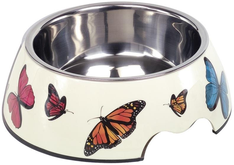 Nobby Butterfly nerez miska v pouzdře s motýli 700ml