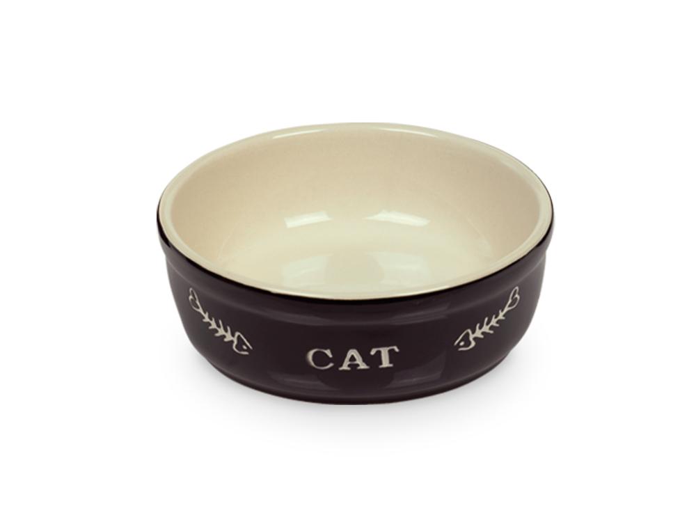 Nobby Cat keramická miska 13,5 cm černá