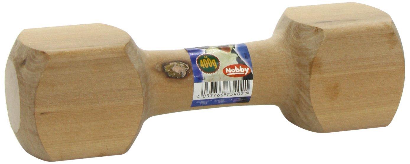 Nobby aportovací činka dřevěná 400g