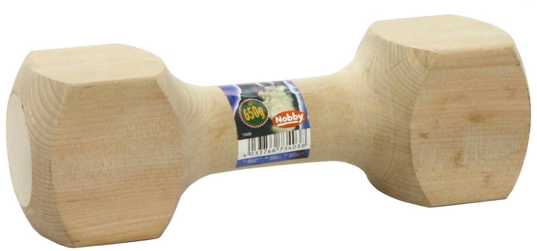 Nobby aportovací činka dřevěná 650g