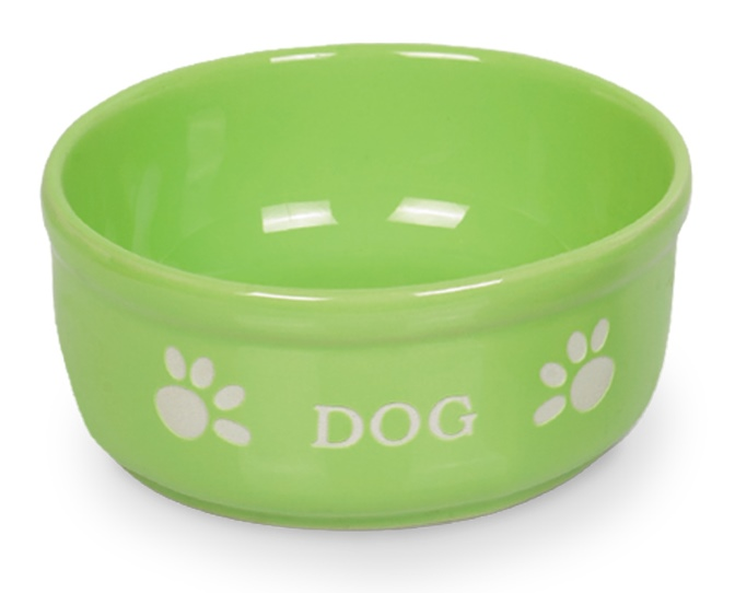 Nobby DOG zelená miska 15,5 x 6,5 cm