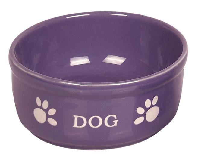 Nobby DOG fialová miska 15,5 x 6,5 cm