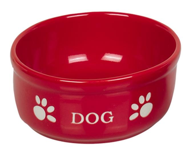 Nobby DOG červená miska 15,5 x 6,5 cm