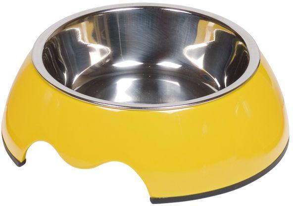 Nobby Nobly nerez miska v žlutém pouzdře 160ml
