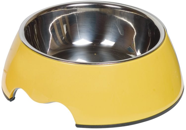 Nobby Nobly nerez miska v žlutém pouzdře 350ml