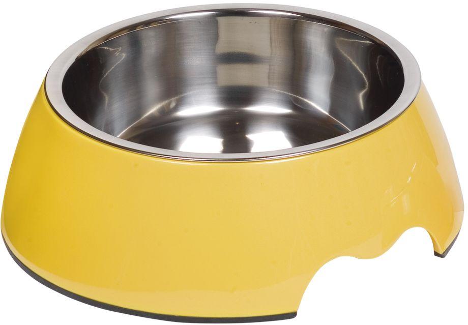 Nobby Nobly nerez miska v žlutém pouzdře 700ml