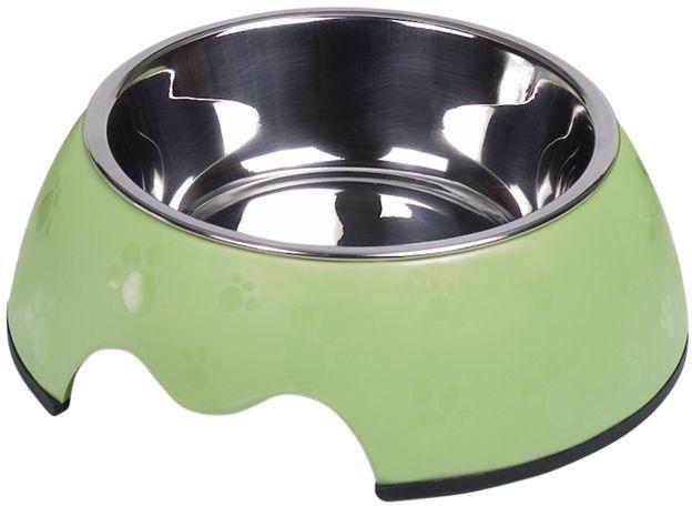 Nobby Nobly Paw nerez miska pouzdře zelená tlapky 160ml