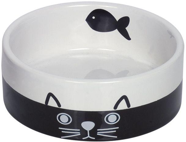 Nobby keramická miska pro kočky černobílá 12 cm