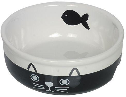 Nobby keramická miska pro kočky černobílá 13,5 cm