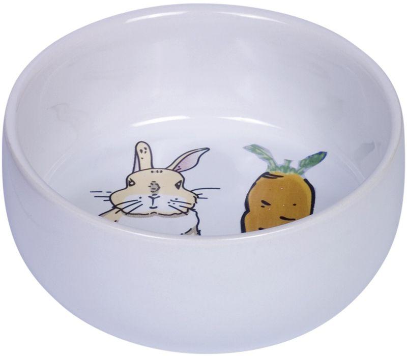 Nobby Carrot Plus keramická miska pro hlodavce bílá 11 x 4,5 cm