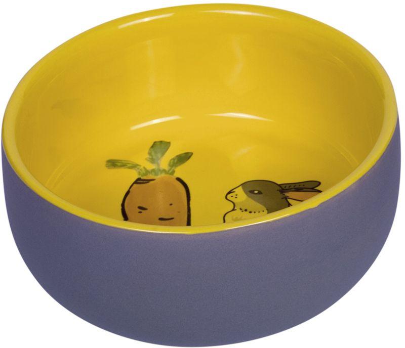 Nobby Carrot Plus keramická miska pro hlodavce žlutá 11 x 4,5 cm