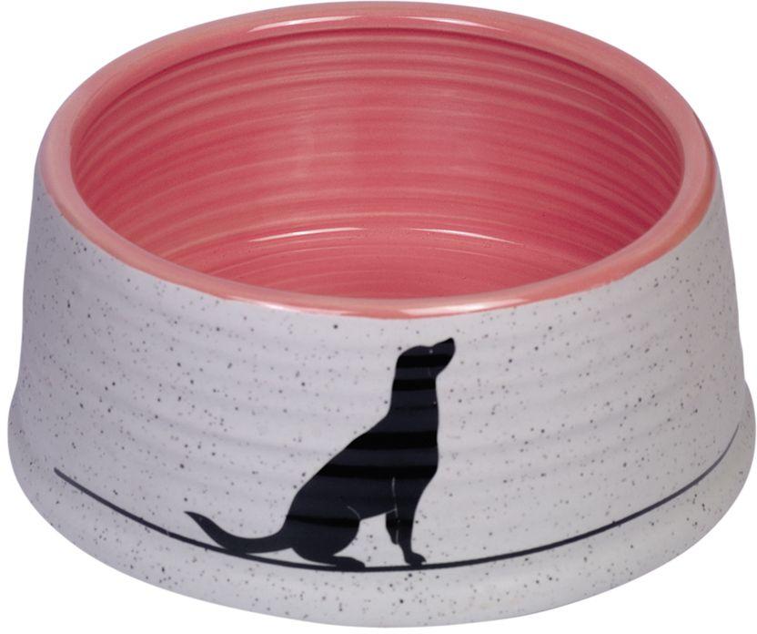 Nobby Luna keramická miska růžová 15 x 6,5 cm