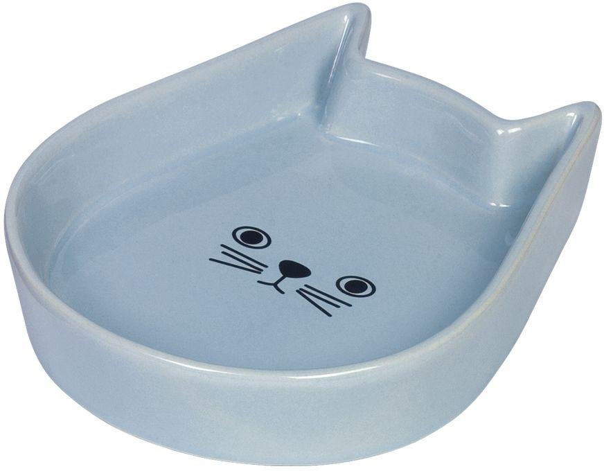 Nobby Kitty Face keramická miska pro kočku modrá 13x16x3cm