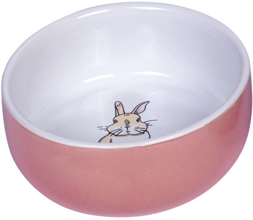 Nobby Rabbit keramická miska pro hlodavce růžová 11 x 4,5 cm