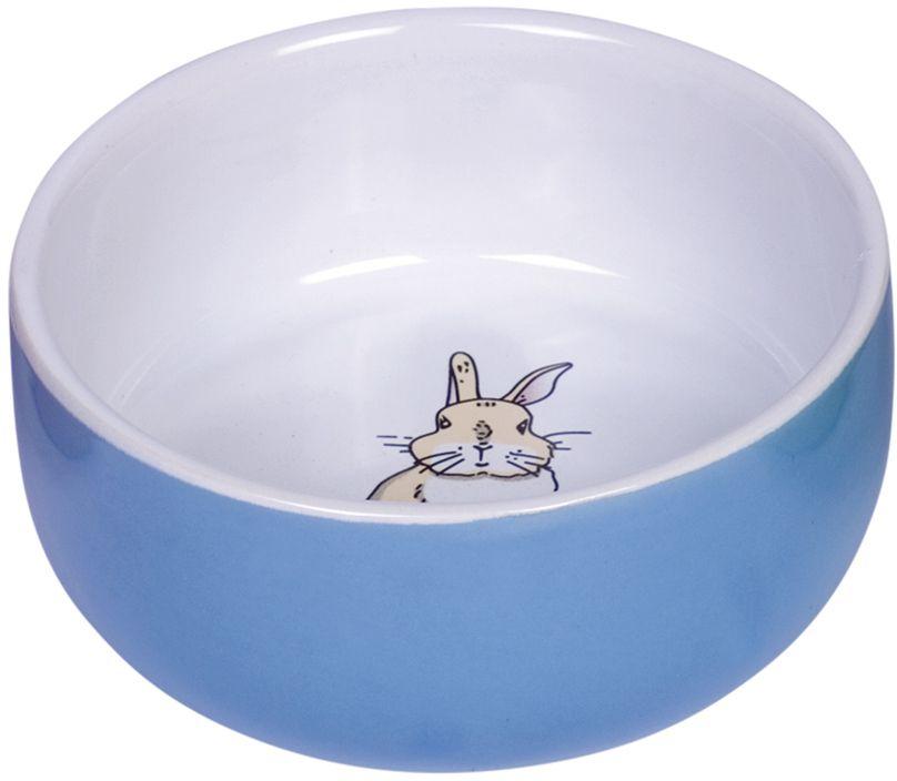 Nobby Rabbit keramická miska pro hlodavce modrá 11 x 4,5 cm