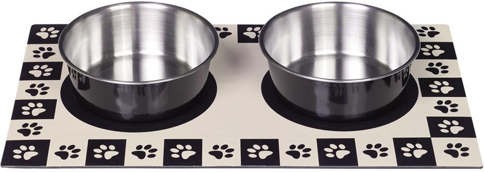 Nobby magnetická podložka černá + 2 misky 920ml