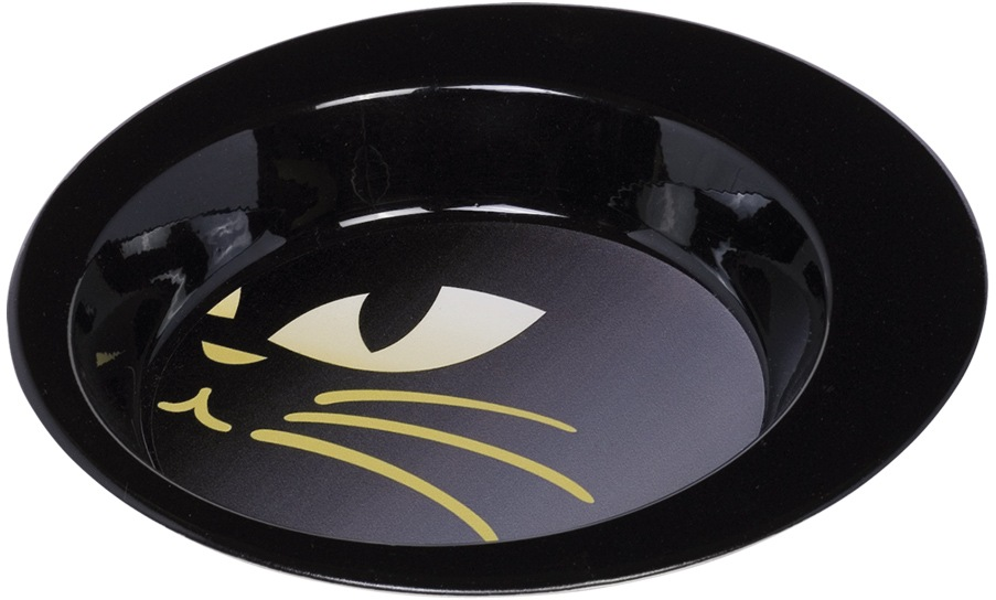 Nobby nerezová lakovaná miska Kitty pro kočky černá 340ml