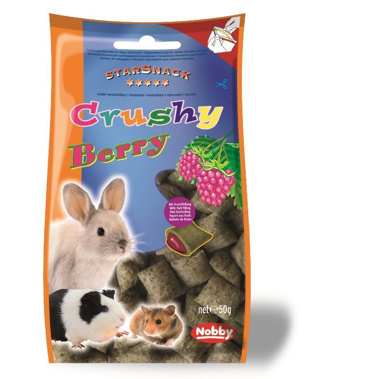 Nobby StarSnack Crushy pamlsek pro hlodavce křupavé polštářky plody 50g