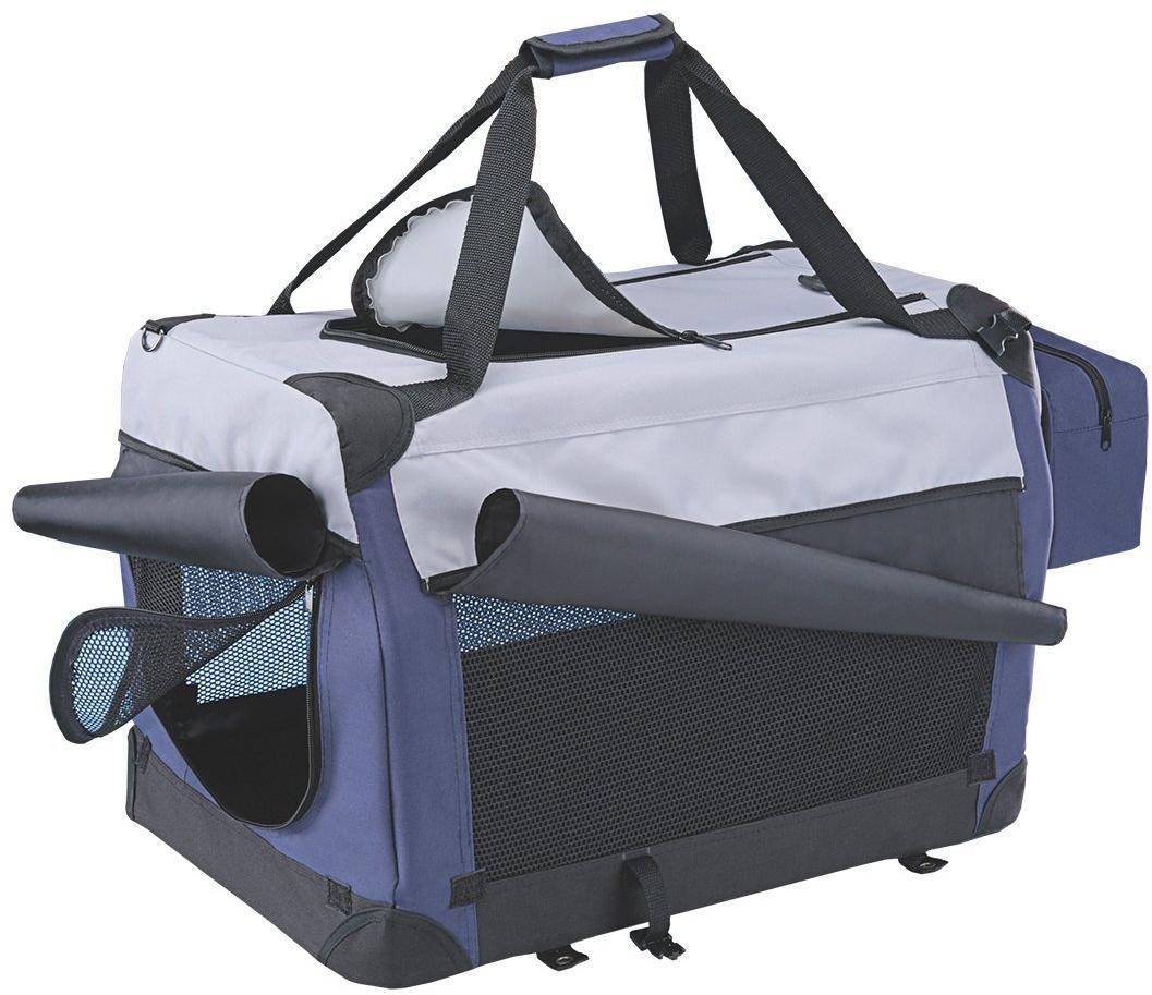 Nobby Traveller Plus L nylonový box kennelka pro psy 70x52x52cm