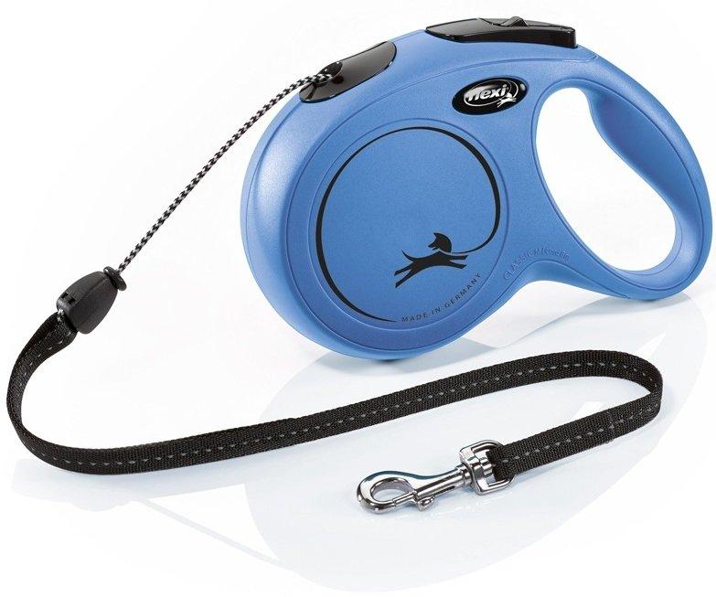 Flexi NEW CLASSIC M lanko 8m/20kg modrá