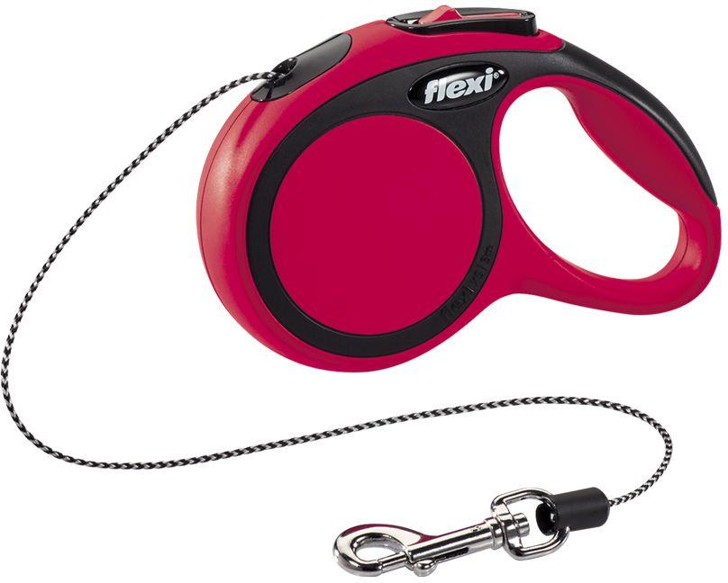 Flexi New Comfort XS vodítko lanko 3m/8kg červená