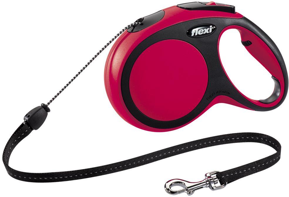 Flexi New Comfort M vodítko lanko 8m/20kg červená