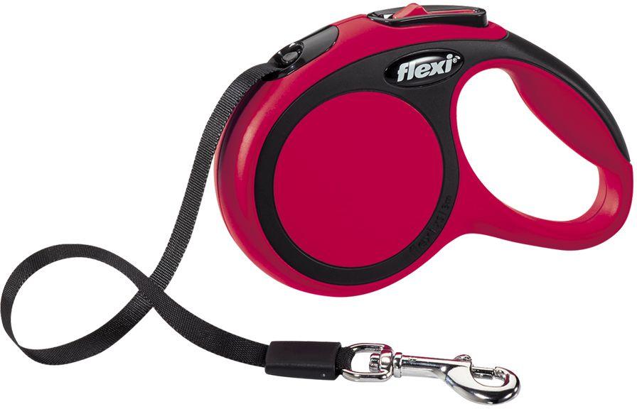 Flexi New Comfort XS vodítko pásek 3m/12kg červená