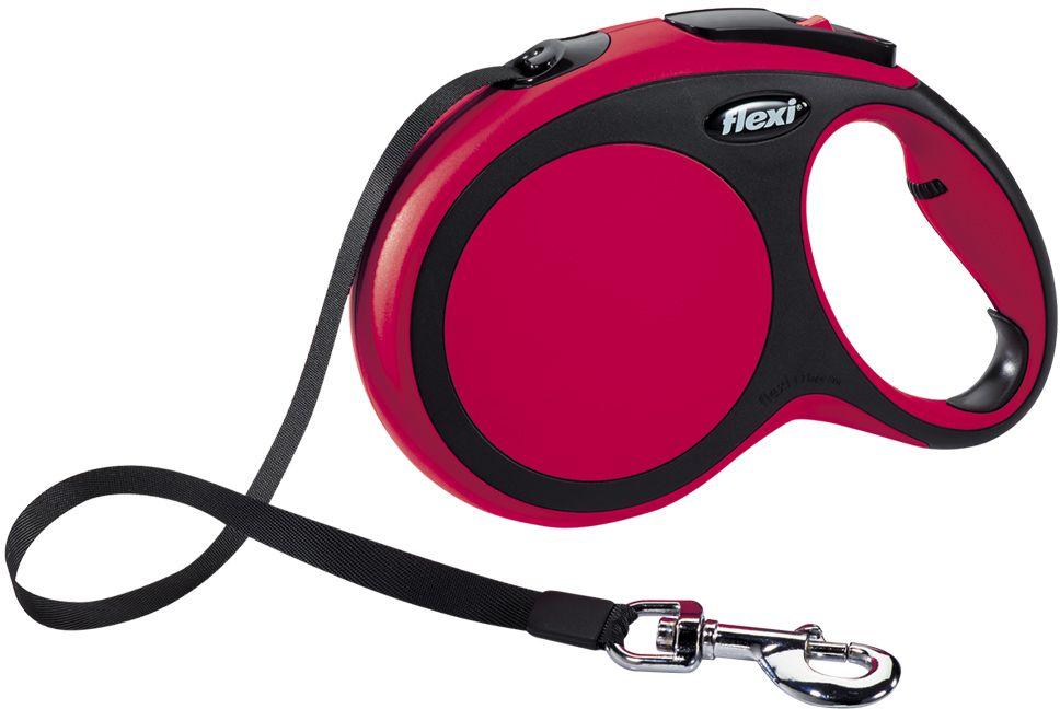 Flexi New Comfort L vodítko pásek 8m/50kg červená