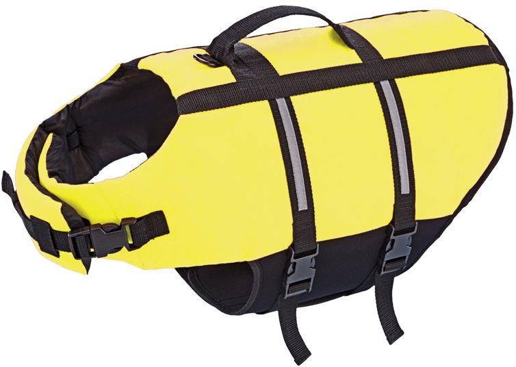 Nobby Elen záchranná plovací vesta pro psa neon žlutá L-40cm