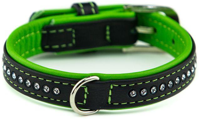 Nobby Pacific Deluxe obojek se Swarovski krystaly XS 27cm zelená