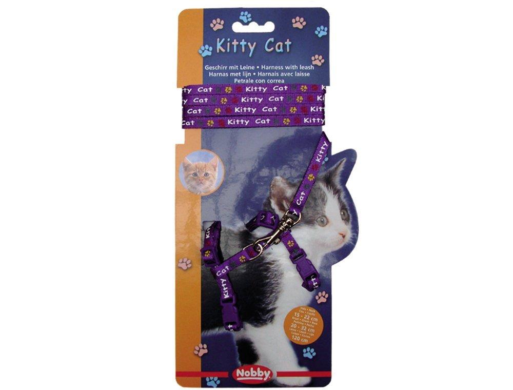 Nobby Kitty Cat fialový set postroj + vodítko pro kotě