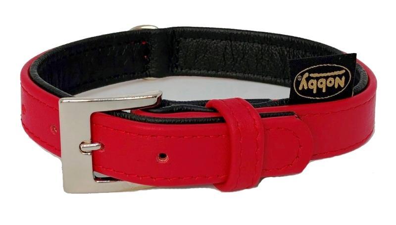 Nobby South obojek NAPPA kůže XS 27cm červená