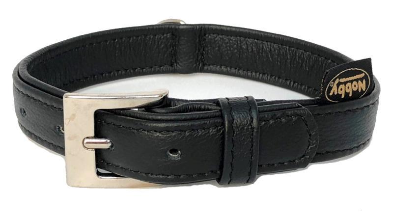 Nobby South obojek NAPPA kůže S-M 42cm černá