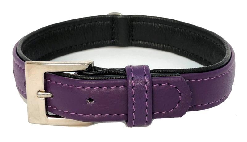 Nobby South obojek NAPPA kůže S-M 42cm fialová