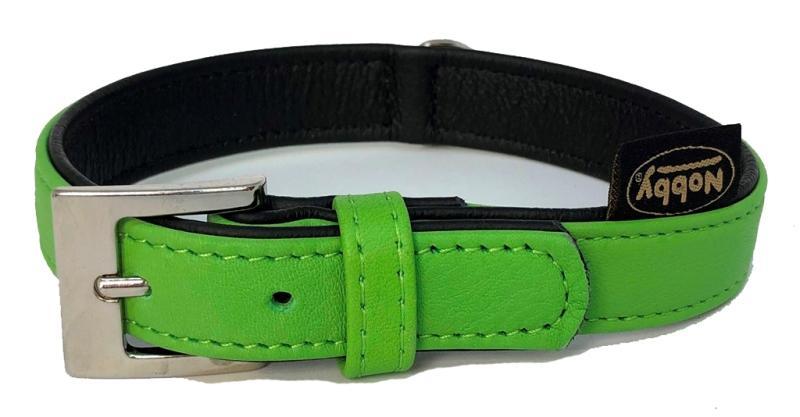 Nobby South obojek NAPPA kůže XS 27cm zelená