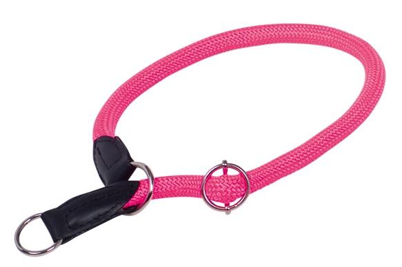 Nobby FUN Royal Neon kulatý polostahovací obojek S-M 50cm neon růžová