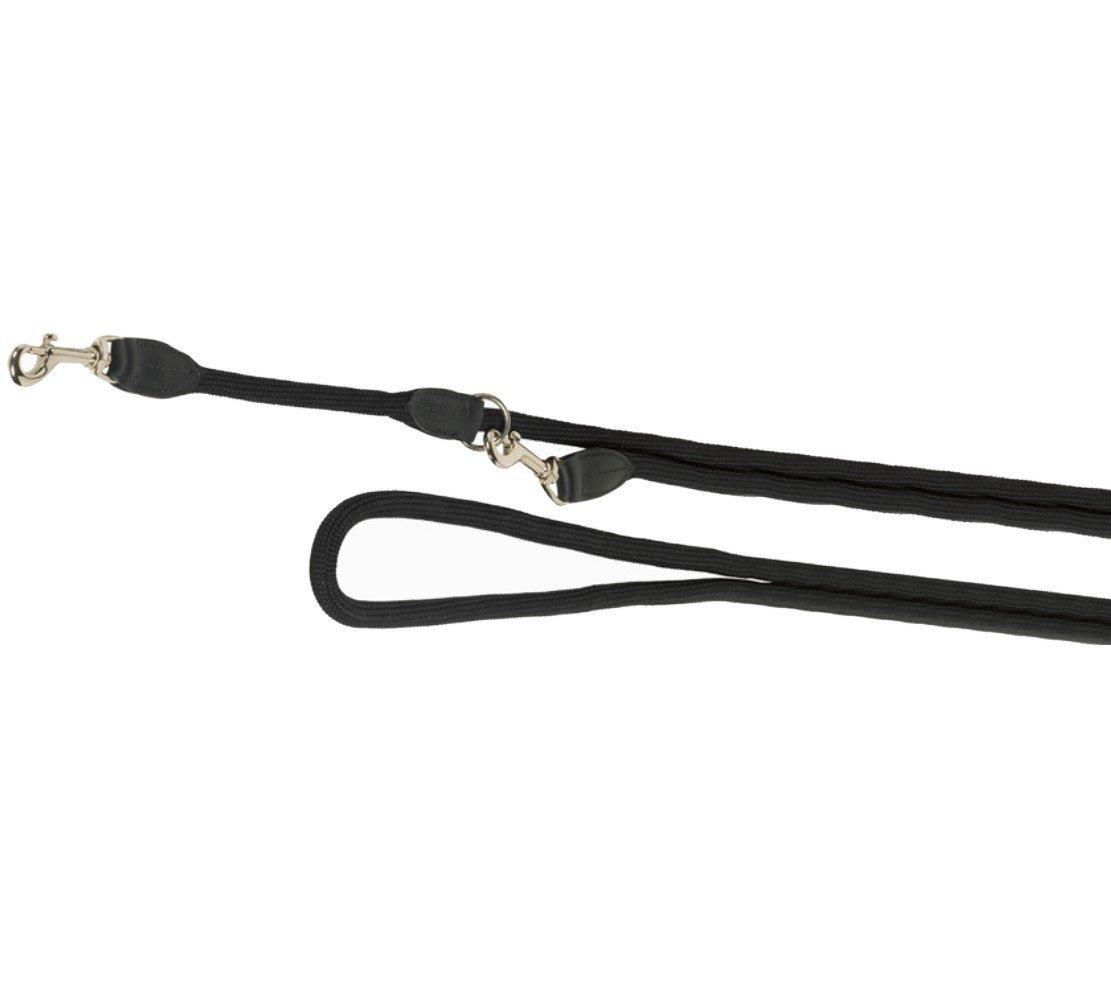 Nobby FUN Royal černé lanové vodítko nastavitelné 200cm / 9mm